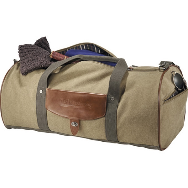 Cutter & Buck (r) - Cotton Roll Duffel Bag Made Of Genuine Saddle Leather And Cotton Canvas Photo