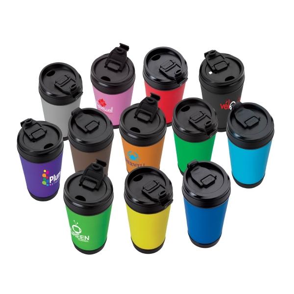 Perka® Hibiscus IV 17 oz. Insulated Spill-Proof Mug