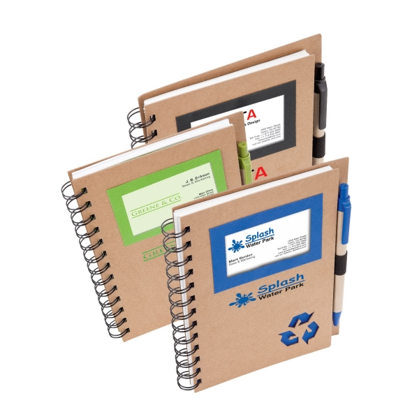 Eco Spiral - Notebook And Pen, Made From Plastic And Recycled Paper Photo