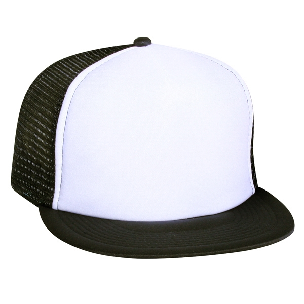 Polyester Foam Front Flat Visor With Nylon Mesh Back. Blank Photo