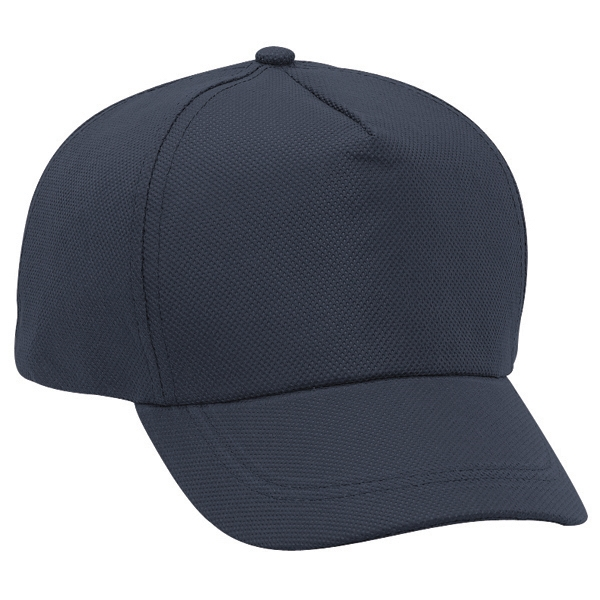 Non-woven Polypropylene Five Panel Pro Style Cap With Buckram Flap. Blank Photo