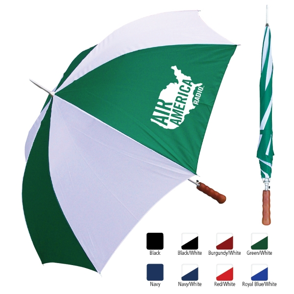 "Sale 10 Day Production - Metal Shaft Sport Umbrella With 48"" Arc Photo"