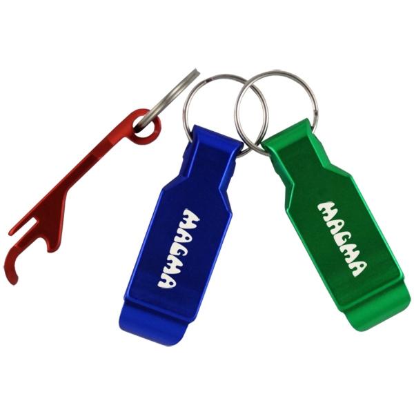 Aluminum Multi-Purpose Bottle Opener Keyring