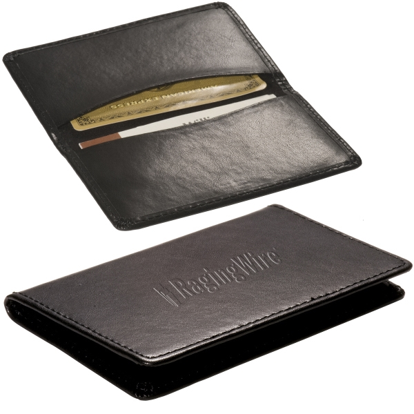 Alpine Leeman New York Collection - Sueded Full Grain Leather Card Holder With Suede Lining Photo