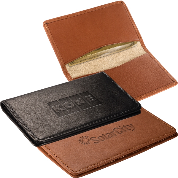 Alpine Leeman New York Collection - Sueded Full Grain Leather Card Case With Suede Lining Photo