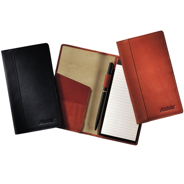 Fulton Leeman New York Collection - Sueded Full-grain Leather - Sueded Full Grain Leather Note Portfolio With Notepad Photo