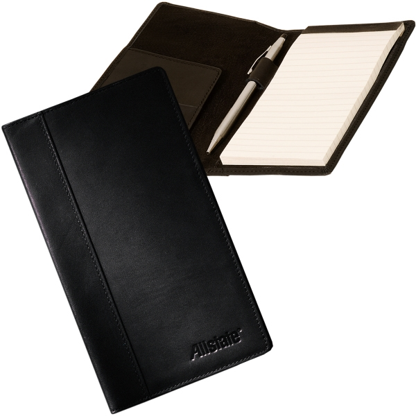 Fulton Leeman New York Collection - Cowhide - Sueded Full Grain Leather Note Portfolio With Notepad Photo