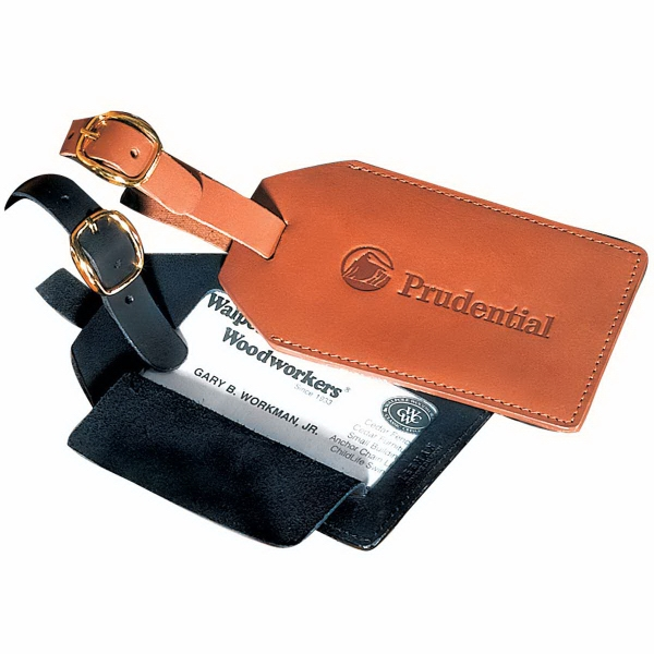Grand Central Leeman New York Collection - Sueded Full Grain Leather Luggage Tag Photo