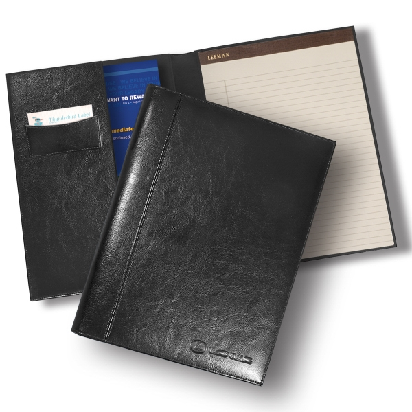 Brookville Leeman New York Collection - Portfolio With Simulated Glazed Leather With Fine Ribbed Lining Photo