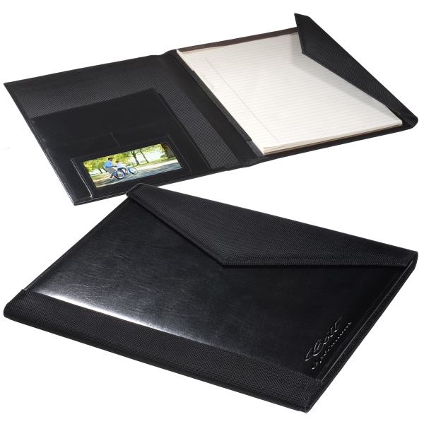 "Manhasset Leeman New York Collection - Photo Portfolio With 8 1/2"" X 11"" Ruled Pad And Magnetic Closure Photo"
