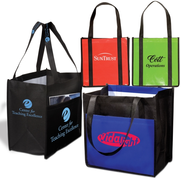 Eco-responsible (tm) Enviro-shopper - Non Woven Reusable 80 Gsm Tote Bag, An Eco-responsible (tm) Product Photo