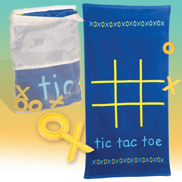 Tic-tac-towel Logotec - Tic-tac-toe Game Towel Kit In A Mesh Drawstring Bag Photo