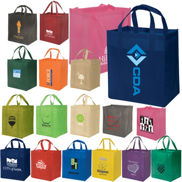 Eco-responsible (tm) Enviro-shopper - Non Woven Reusable 100 Gsm Tote Bag, An Eco-responsible (tm) Product Photo