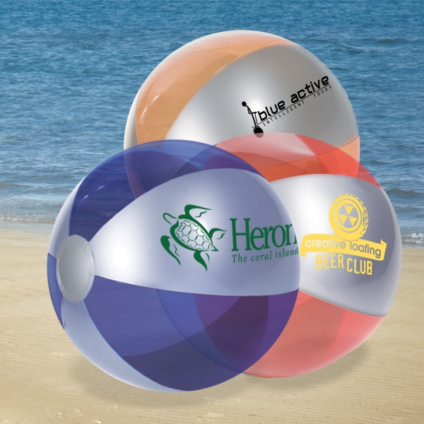 "Luster Tone 10 1/2"" Diameter Pvc Beach Ball Photo"