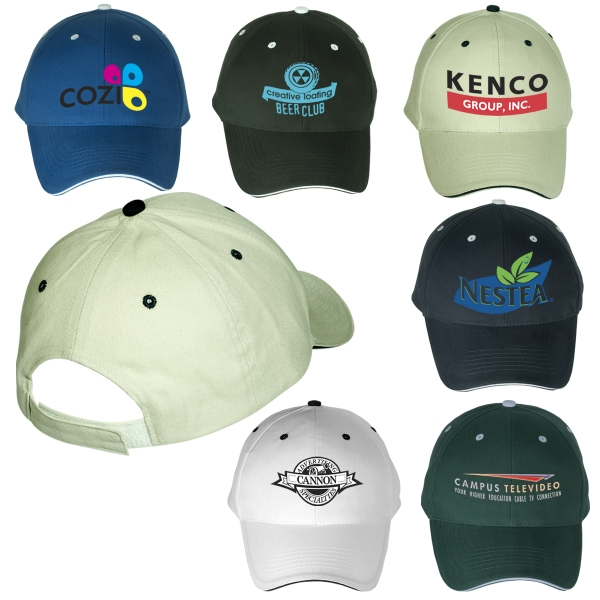 6 Panel Structured Cap with Sandwich Visor