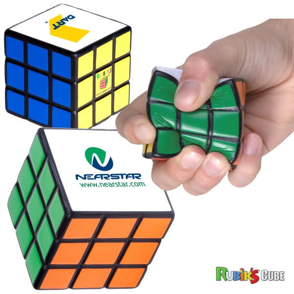 Rubik's (r) Cube - Multi-color Puzzle Design Cube Style Stress Reliever Photo