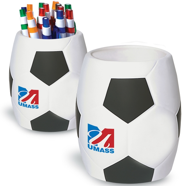Soccer - Strong Flexible Polyurethane Can Holder, Holds A 12 Oz. Can Photo