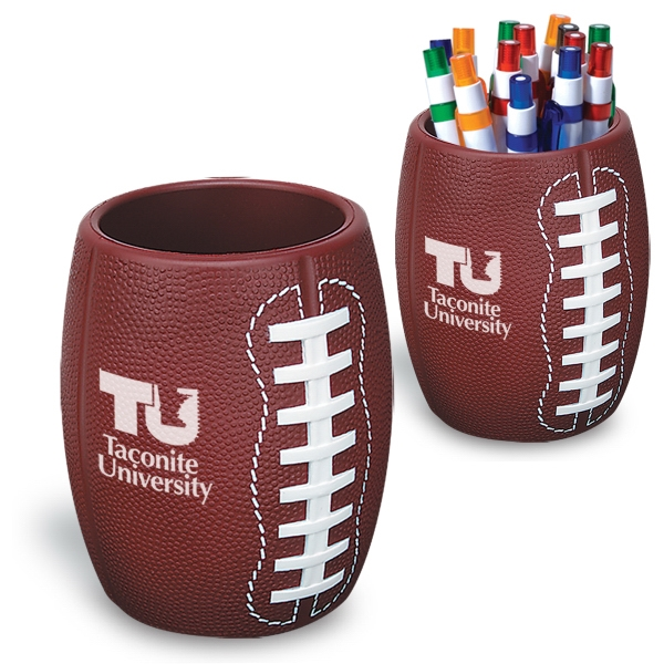 Football - Strong Flexible Polyurethane Can Holder, Holds A 12 Oz. Can Photo