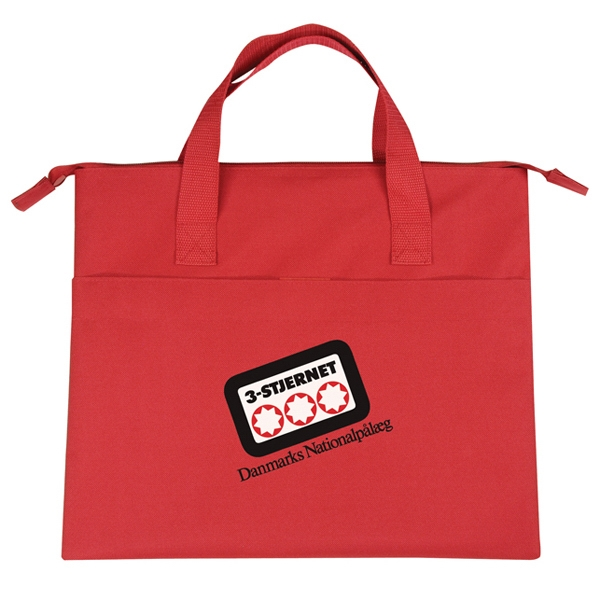 "Polyester Document Bag With Heavy Vinyl Backing, 15"" X 12 1/2"" Photo"