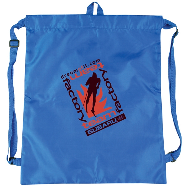 Polyester Drawstring Tote Bag Made Of Polyester With Polyurethane Coating Photo