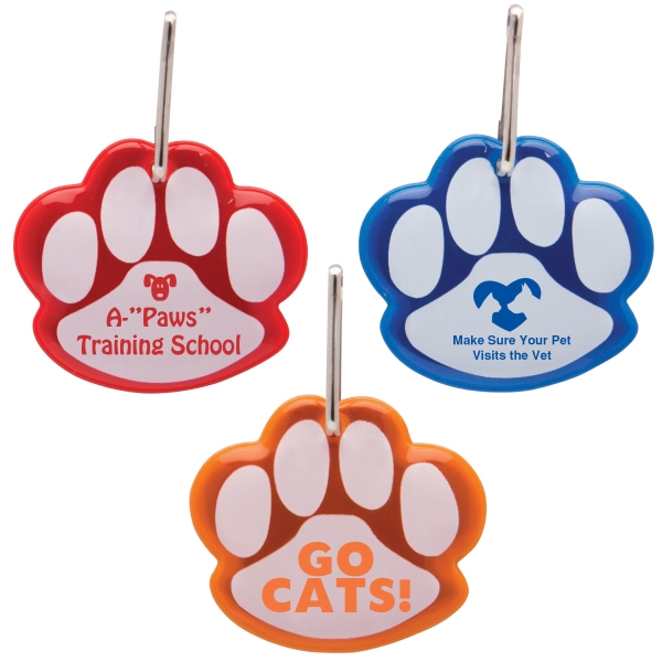 Paw Shaped Reflective Collar Tag: New. Imprint Area Options: Specify On Order Photo