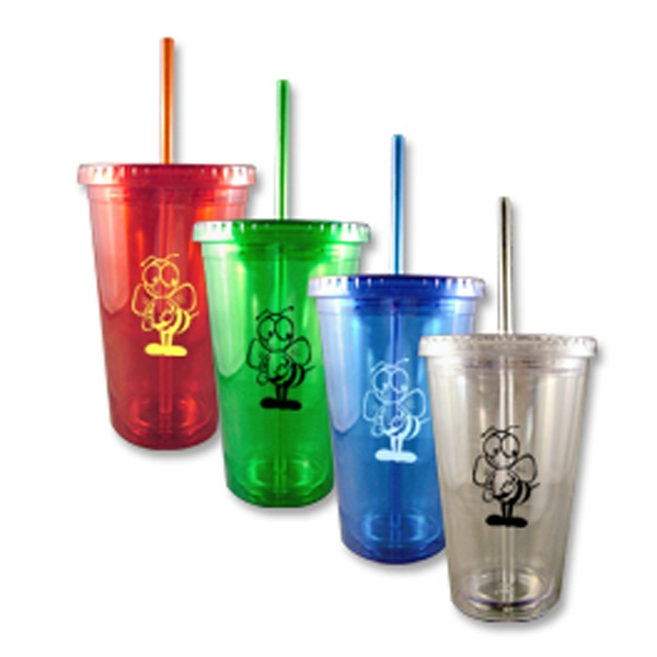 Runaround - 17 Oz. Double Walled Acrylic Tumbler With Straw Photo