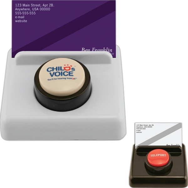White - Sound Desk Button With 10-second Custom Sound Message Photo