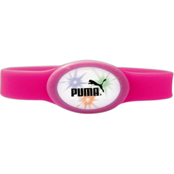 Pink - Flashing Flex Lighted Bracelet. One Size Fits All Photo