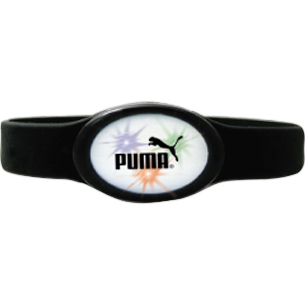 Black - Flashing Flex Lighted Bracelet. One Size Fits All Photo