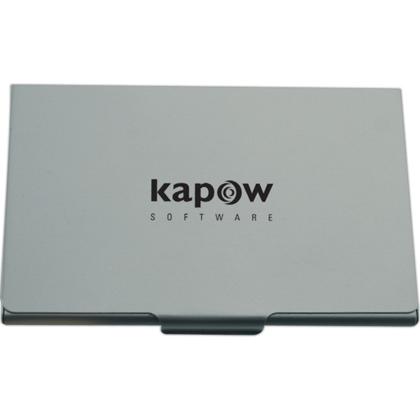 Brushed Aluminum - Brushed Aluminum Flat Business Card Case Photo