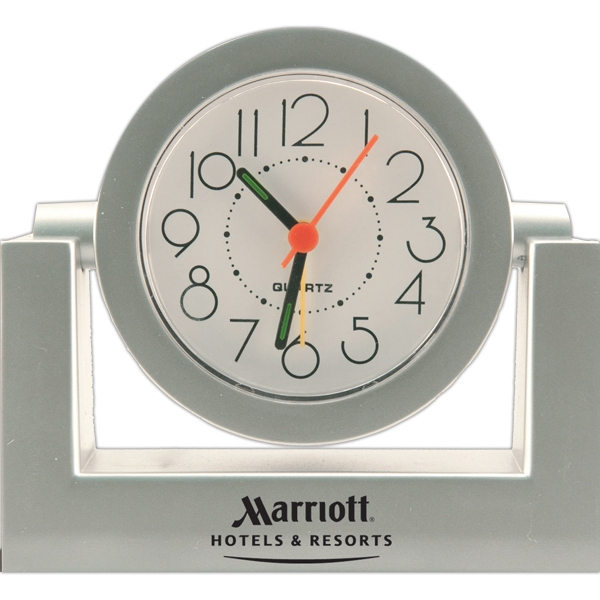Gimbal - Desk Alarm Clock With Adjustable Swivel Face, Quartz Movement Photo