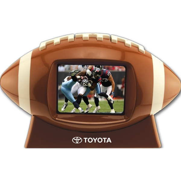 "Football Shaped Media Player With 2.4"" Video Screen Photo"