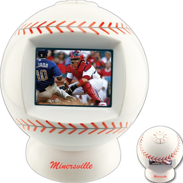 "Baseball Shaped Desktop Video Player With 2.4"" Screen Photo"
