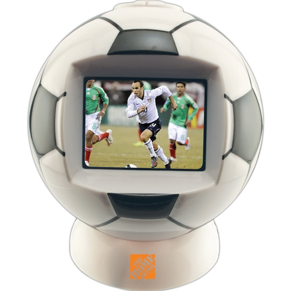 "Soccer Ball Shaped Desktop Video Player With 2.4"" Screen Photo"
