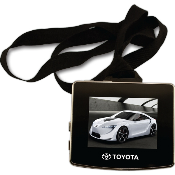 "Video Lanyard Badge, 2.4"" Video Screen (1 7/8"" X 1 3/8"" Viewing) Photo"