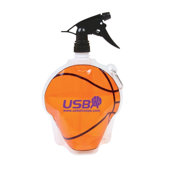 Hydropouch! (tm) - Basketball-shaped Collapsible Water Bottle With Spray Top Photo