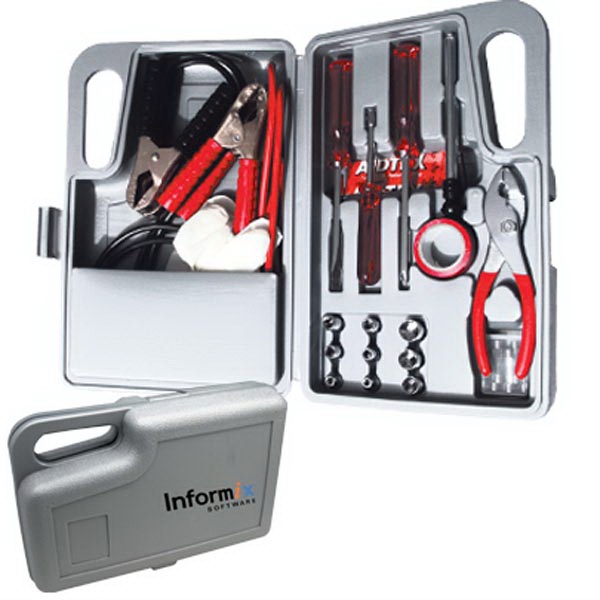 The Express - Deluxe Car Emergency Kit With Booster Cables, Screwdrivers, Pvc Tape And More Photo