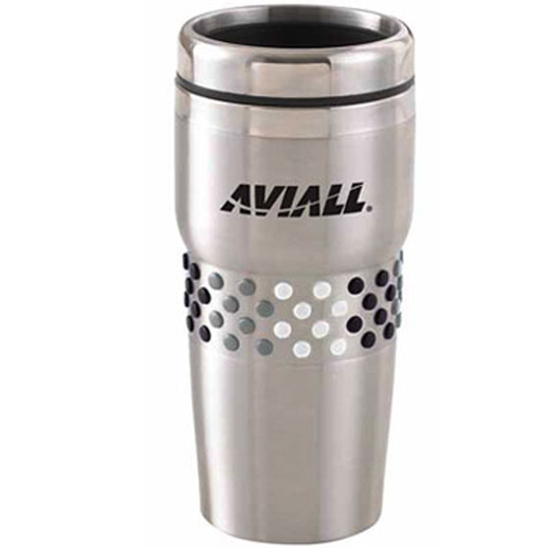 The Fashion Grip - Double Walled Stainless Steel Tumbler, 16 Oz Photo