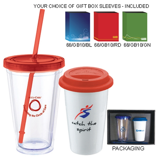 The Sheffield - Hot And Cold Drinkware Set With 11 Oz. And 12 Oz. Tumblers Photo