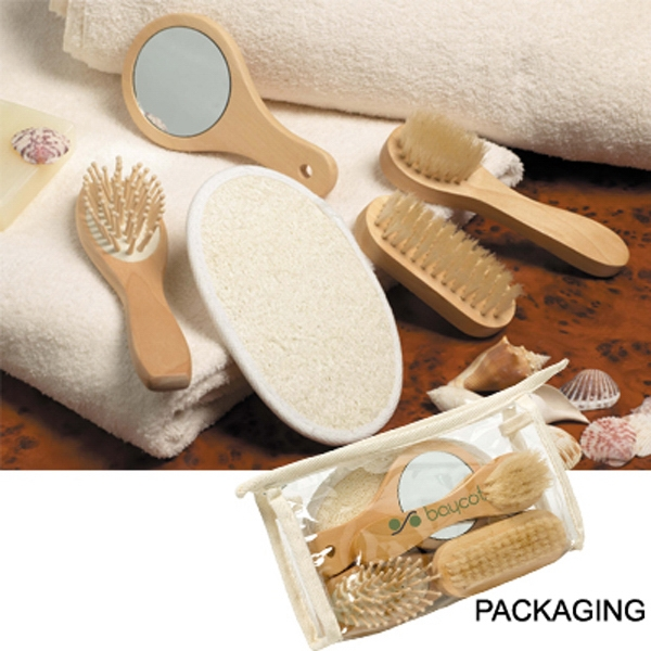 The Relaxation - Five Piece Luxury Spa Kit, Features Loofa Scrubber, Massage Brush And More Photo