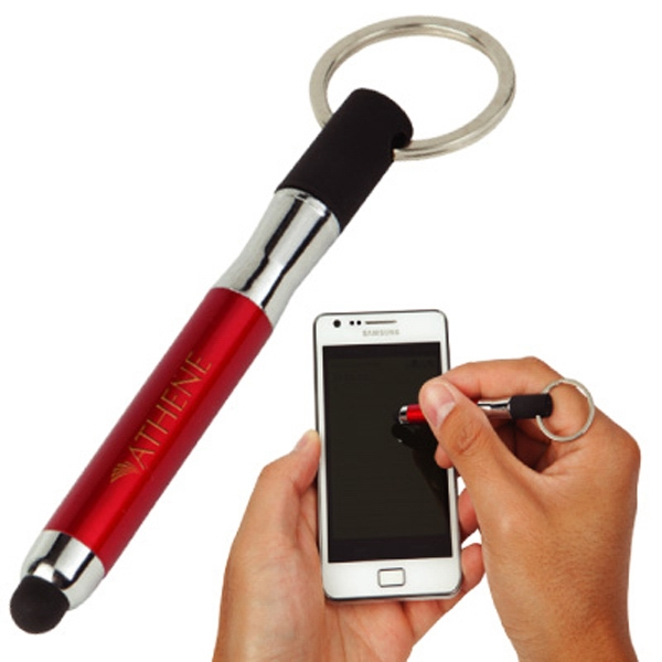 The Capable - Silver - Stainless Steel Barreled Utility Tool With Rubberized Stylus For Smartphones Photo