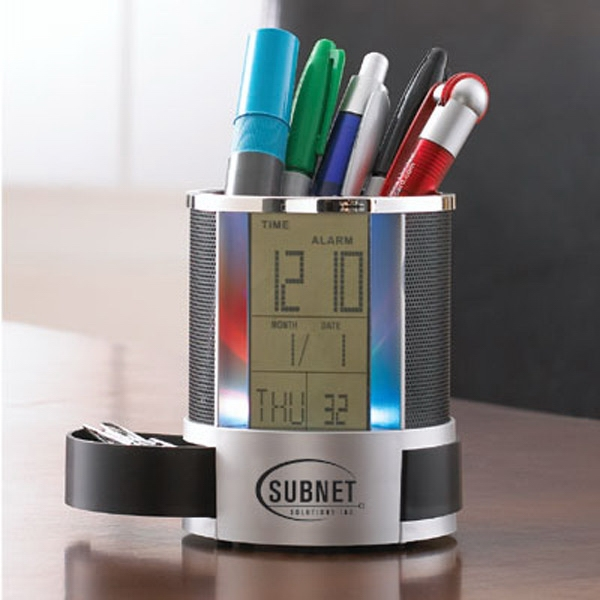 The Modern - Digital Display Clock Caddy Includes Time, Date And Temperature Photo