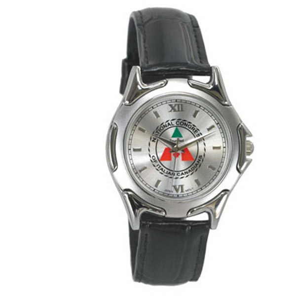 Patton - Men's One Micron Plated Chrome And Matte Chrome Cased Watch Photo