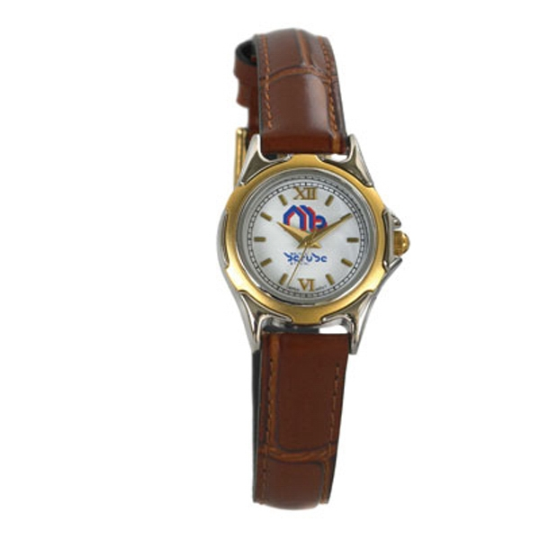 St. Tropez - Ladies' Two Tone Watch With One Micron Plated Chrome And Gold Case Photo