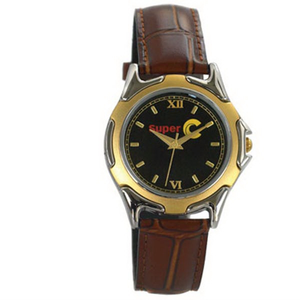 St. Tropez - Men's Two Tone Watch With Standard Band, One Micron Plated Chrome And Gold Case Photo