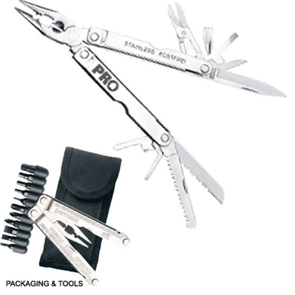 The Professional - Stainless Steel 18 Function Multi Tool Kit Photo