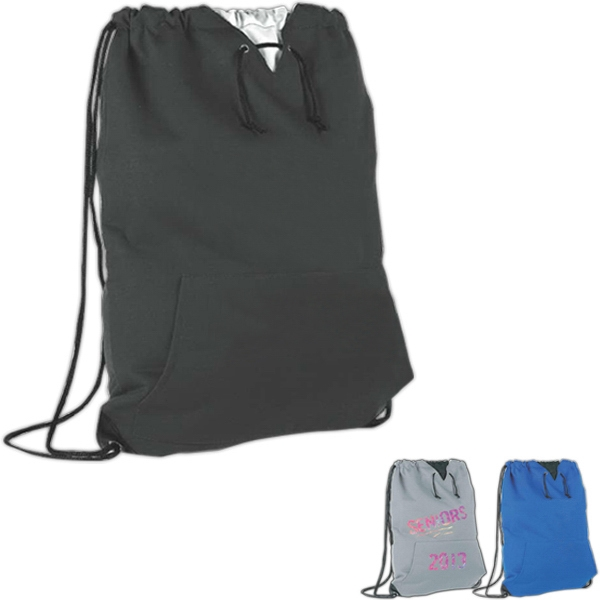 Jersey Sweatshirt Drawstring Cooler Keeps Your Lunch Hot Or Cold For 4 - 6 Hours Photo