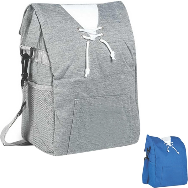 Jersey Sweatshirt Cooler Bag With Mesh Pocket For Water Bottle (not Included) Photo