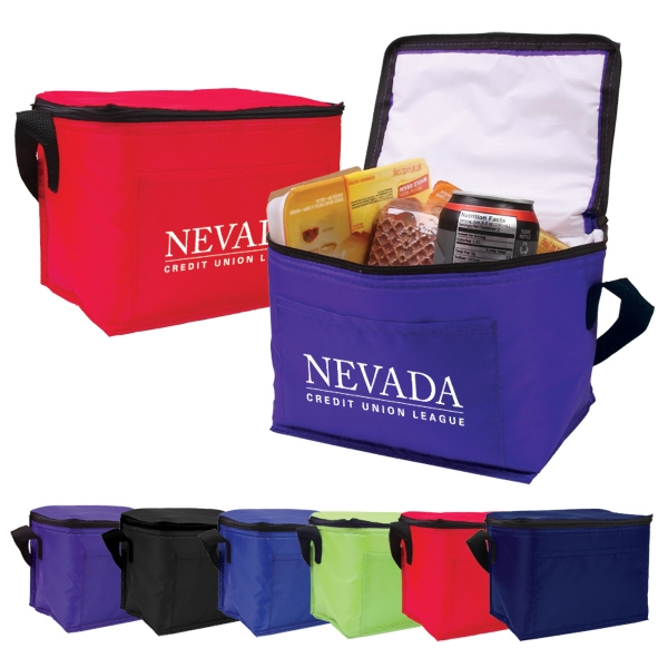 Six Pack Cooler Bag With Peva Lining. Budget Priced Photo