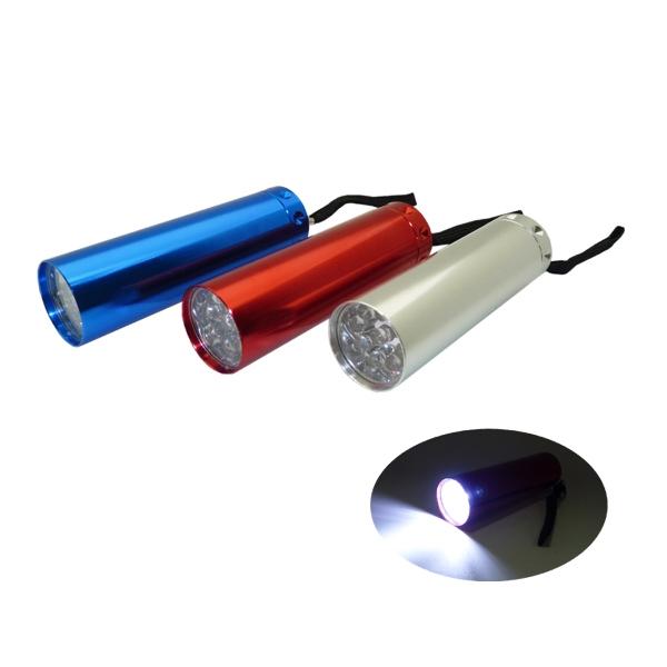 9  LED Aluminum Flashlight